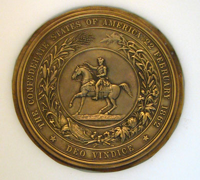 "The text on the case says, ""Original Confederate Seal"" and ""For presentation to Confederate Government Officials"". This seal is owned by Stephen Clay McGehee."